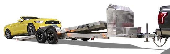 2022 Aluma 8220 Heavy Anniversary Tilt Car / Racing Trailer W/ 2-5200lb Axles