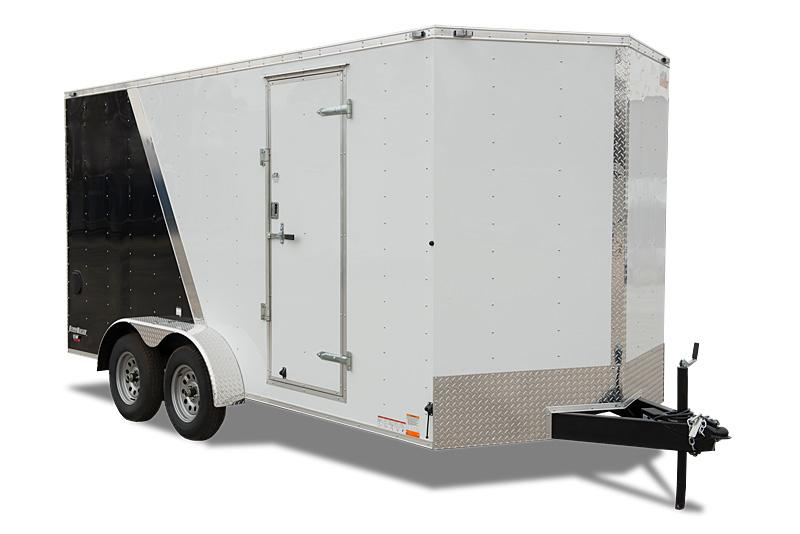 "2021 Cargo Mate E-Series 8.5x16 Wide Body W/6"" Additional Height Rear Ramp Door 24"" Stone Guard Dome Light 36"" RV Door Upgrade  Enclosed Cargo Trailer"