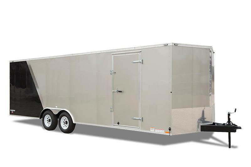"2021 Cargo Mate E-SERIES 8.5X20  WITH 6"" Extra Height 36"" RV Door Upgrade 24"" Stone Guard Upgrade Car / Racing Trailer W/ Wedge Nose"