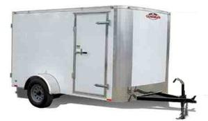 "2021 Cargo Mate Challenger 7x14 Enclosed Cargo Trailer w/ 6"" Additional Height Rear Ramp Door Roof Vent"