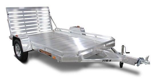 2021 Aluma 7712H W/ Bifold Tailgate 3500LB Axle  Utility Trailer