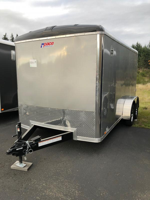 "2021 Pace American 7X14 Enclosed Cargo Trailer W/6"" Additional Height"