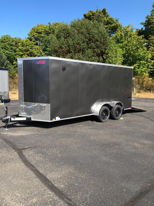 """2022 Pace American Journey V-Nose 7X16 W/ 6"""" Additional Height Enclosed Cargo Trailer"""