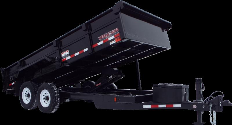 "2021 Midsota HV-16 Dump Trailer W/ 17,600 (with 8k Axle Upgrade)  12K Hydraulic Jack  Spare Tire Carrier  Swing Side Door --  58"" on 14'   Pallet Fork Holders  Roll Tarp System"