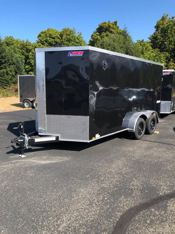 """2022 Pace American Journey 7x16 Enclosed V-Nose W/ 6"""" Additional Height Cargo Trailer"""
