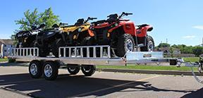 2020 Aluma A8818 W/ Ramps ATV Trailer