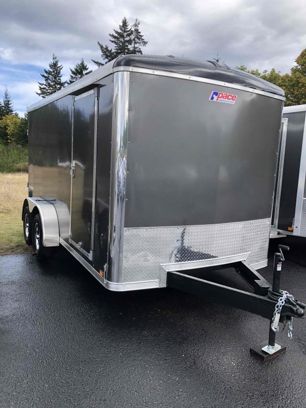 "2021 Pace American 7X14 Cargo Sport W/6"" additional Height Rivetless Sides High Performance Interior PKG Enclosed Cargo Trailer"