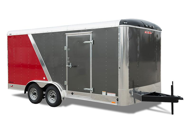 """2021 Cargo Mate Blazer Series 7x16 W/ 6"""" Additional Height Rear Ramp Door D-Rings  Enclosed Cargo Trailer"""