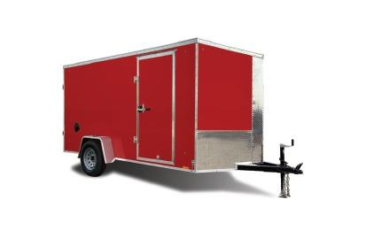 """2022 Pace American Journey 7X14 V-Nose W/ 6"""" Additional Height Enclosed Cargo Trailer"""