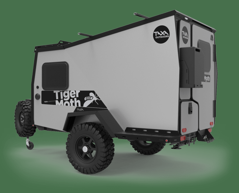 2021 Taxa Outdoors Tiger Moth Travel Trailer RV W/ Tongue Tool Box Soft Goods PKG Propane PKG and THULE Load Bars