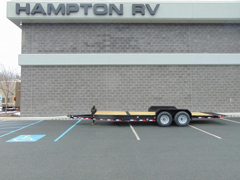 2020 PJ Trailers 6 in. Channel Equipment Tilt (T6) 20' Equipment Trailer
