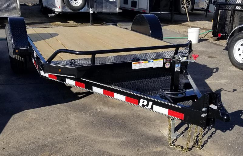 2021 PJ Trailers Single Axle HD Tilt (T1) 131 Equipment Trailer