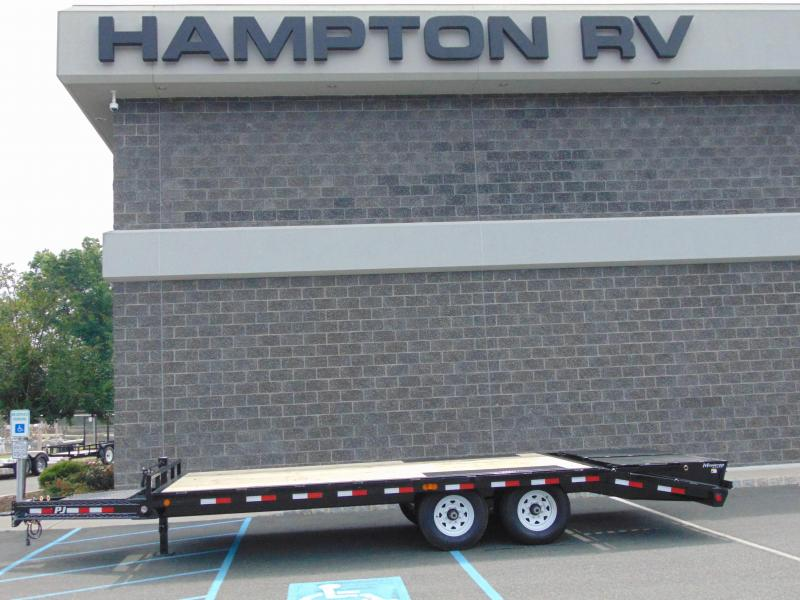 "2021 PJ Trailers 8"" I-Beam Deckover (F8) 24' Equipment Trailer"