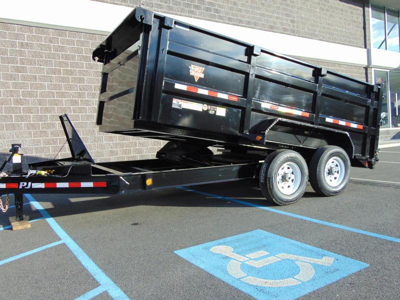"2021 PJ Trailers 2021 PJ model# DX162 16 ft x 83"" PJ low profile Dump Trailer"
