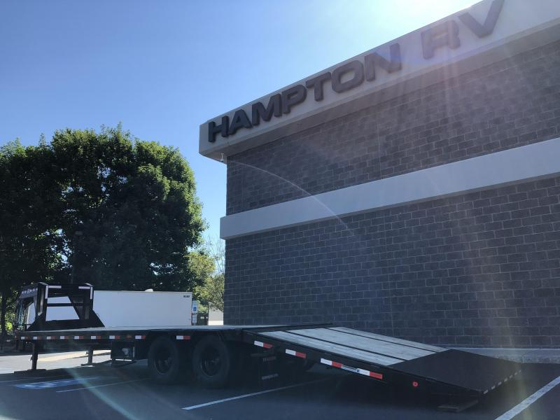 2020 PJ Trailers LY322 32' Hydraulic Dove Tail Equipment Trailer