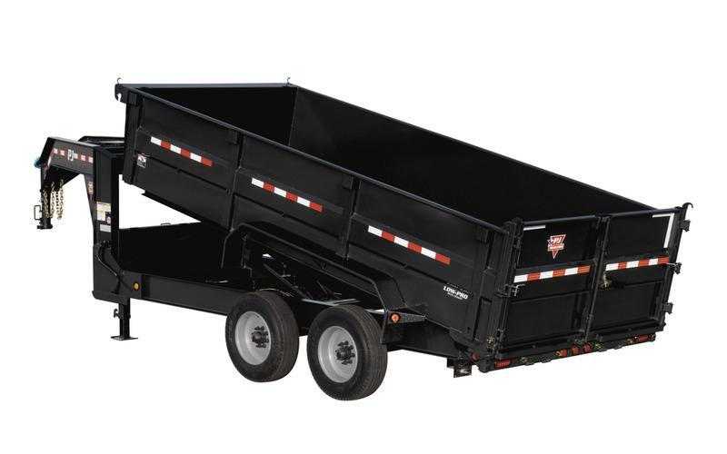 2021 PJ Trailers HD Low-Pro Dump (DE) 162 Gooseneck Dump Trailer