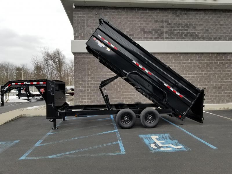 2021 PJ Trailers Goosneck DM142 Dump Trailer (14ft)