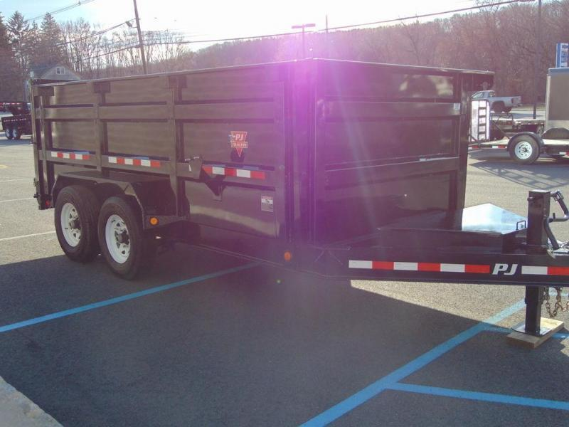 "2019 PJ Trailers 83"" Low Pro High Side Dump (DM) 12'"