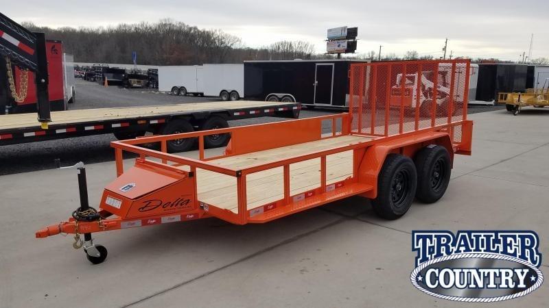 2020 Delta Manufacturing 76X14 TA Utility Trailer