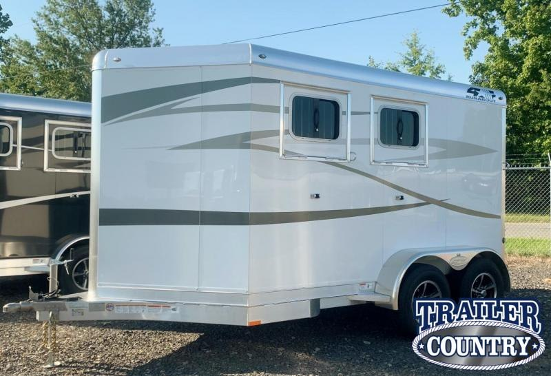 2022 4-Star Trailers Runabout 2 Horse Slant Bumper Pull Horse Trailer