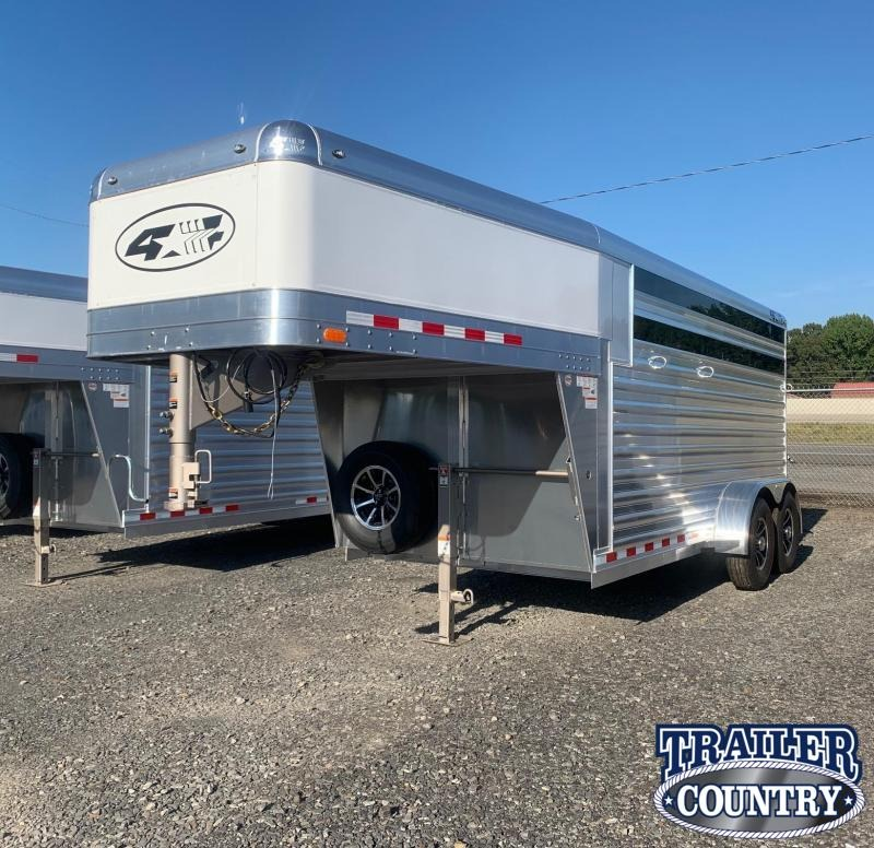 2022 4-Star Trailers Runabout 3 Horse Stock Combo - IN STOCK!! Livestock Trailer