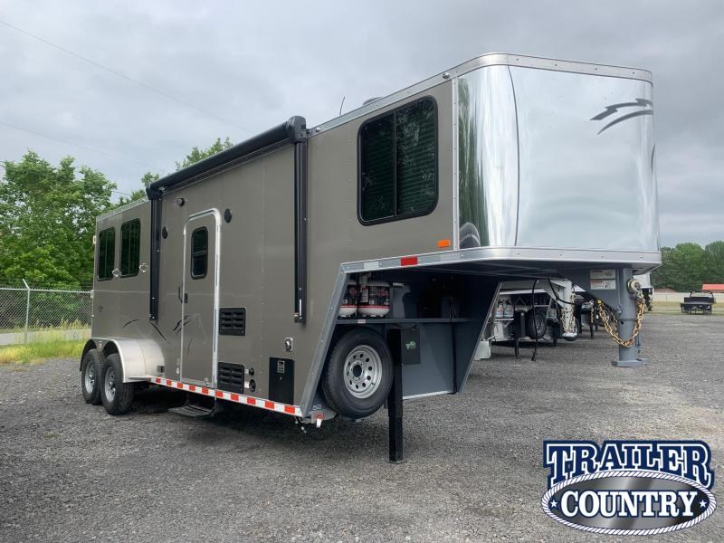 2022 Dixie Star 2 Horse Living Quarters Horse Trailer with Slide