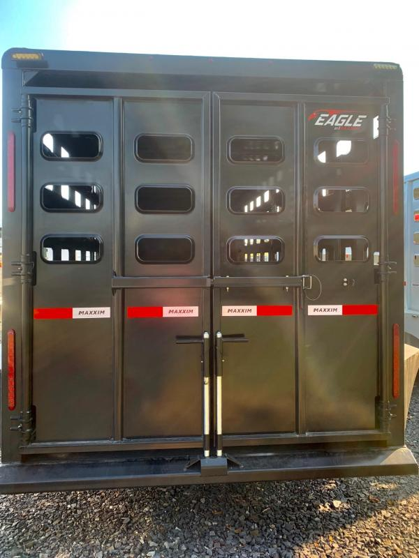 2022 Maxxim Industries Eagle 20' Stock Combo Livestock Trailer - IN STOCK!!