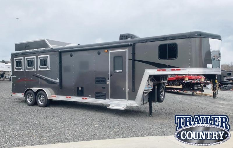 2021 Bison Trailers 7309S Desperado 3 Horse Living Quarters Trailer