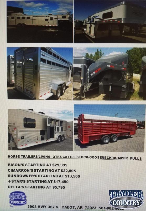 2020 BISON CIMARRON 4STAR SUNDOWNER DELTA Horse Trailer