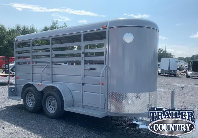 2021 W-W Trailer 14' Bumper Pull Livestock Trailer