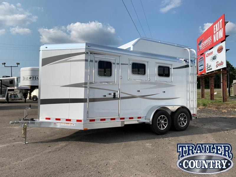 2021 4-Star Trailers Runabout 3 Horse Slant with Hay Rack Horse Trailer