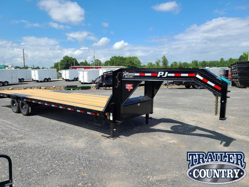 2021 PJ Trailers 28FT LOW-PRO Flatbed Trailer