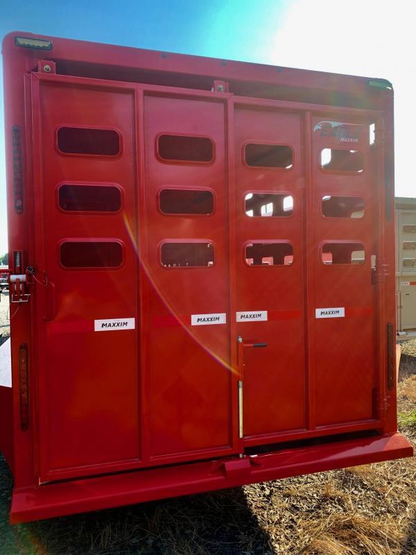 2022 Maxxim Industries Eagle 28' Stock Combo Livestock Trailer - IN STOCK!!