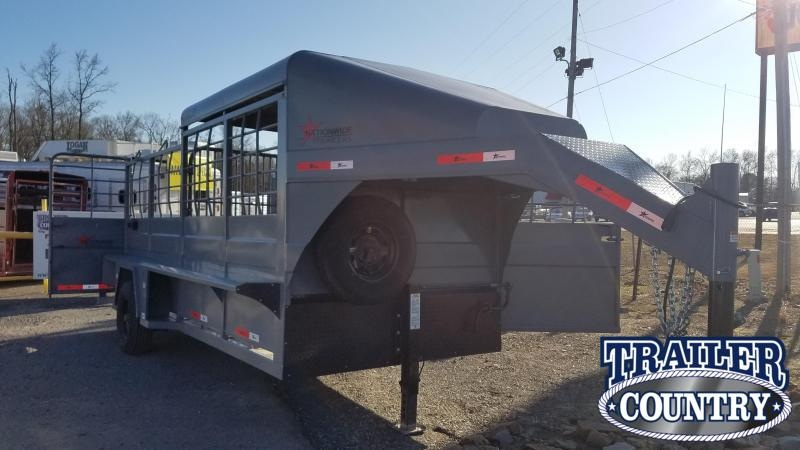 ***PRICE REDUCTION** 2019 Nationwide Trailer RAWMAXX 16FT Half Top Livestock Trailer