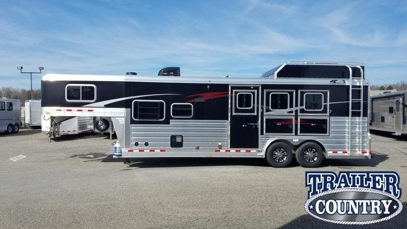 2020 4-Star Trailers 3 HORSE WITH LIVING QUARTERS Horse Trailer WITH FREE DELTA BUMPER BULL TRAILER