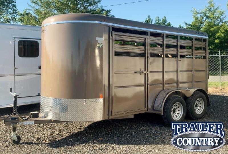 2022 Delta Manufacturing 500 2 Horse Stock Combo Trailer Livestock Trailer