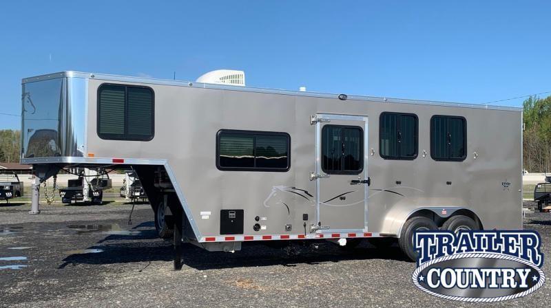 2022 Dixie Star 7306 3 Horse Living Quarters Trailer