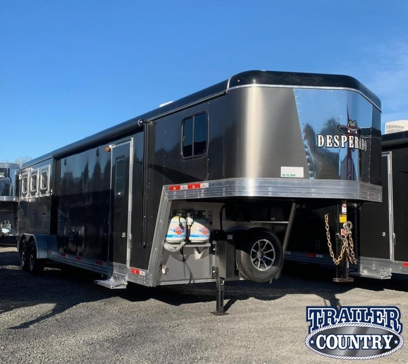 2021 Bison Trailers 7311 Desperado 3 Horse Trailer with Living Quarters and Slide Out