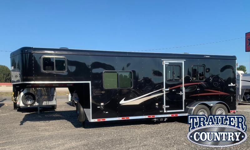 2022 Bison Trailers 7208 Quickdraw 2 Horse Living Quarters Horse Trailer - IN STOCK!!
