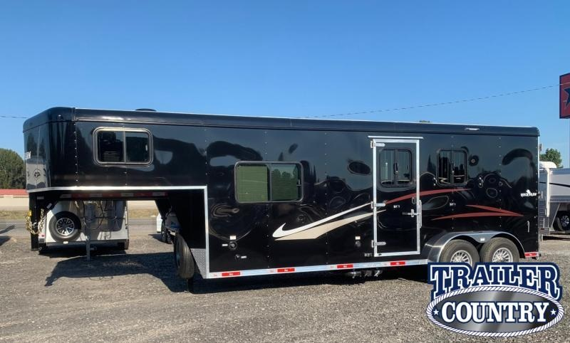 2022 Bison Trailers 7208 Quickdraw 2 Horse Living Quarters Horse Trailer