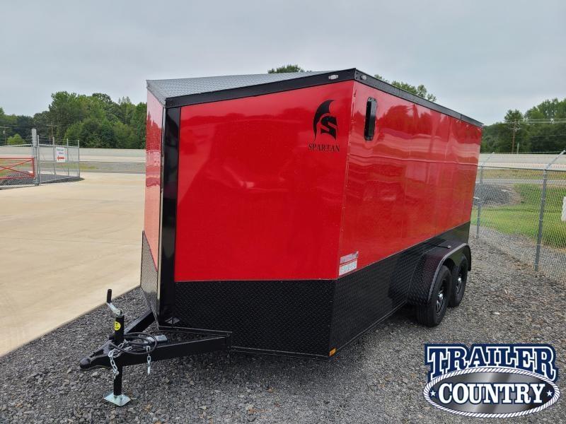 2021 Spartan Cargo 7X14 TA Motorcycle Trailer