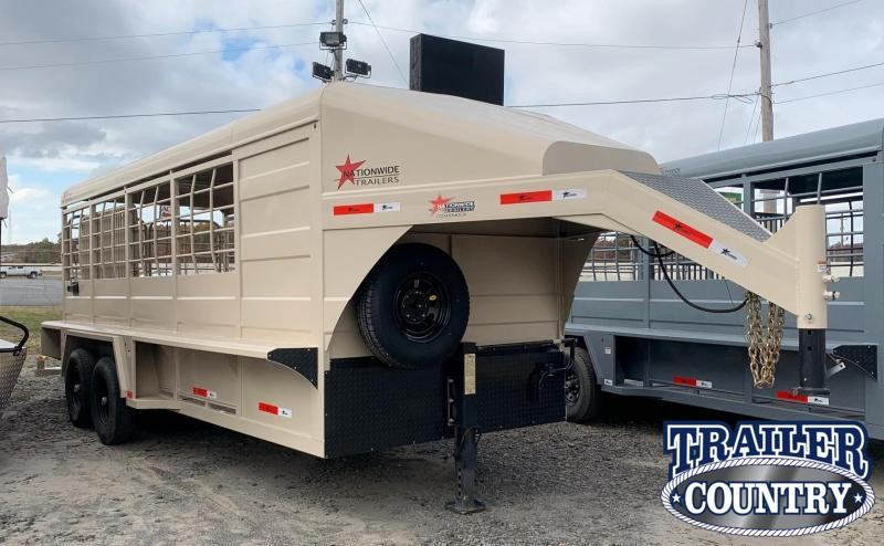 2019 Nationwide Trailer Rawmaxx Livestock Trailer