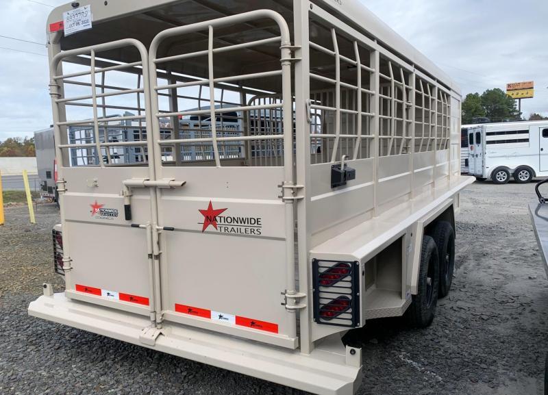 2019 Nationwide Trailer Rawmaxx Livestock Trailer