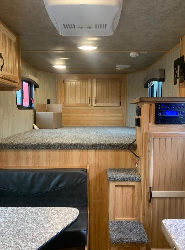 2021 Bison Trailers Scout 7208 2 Horse Living Quarters Horse Trailer