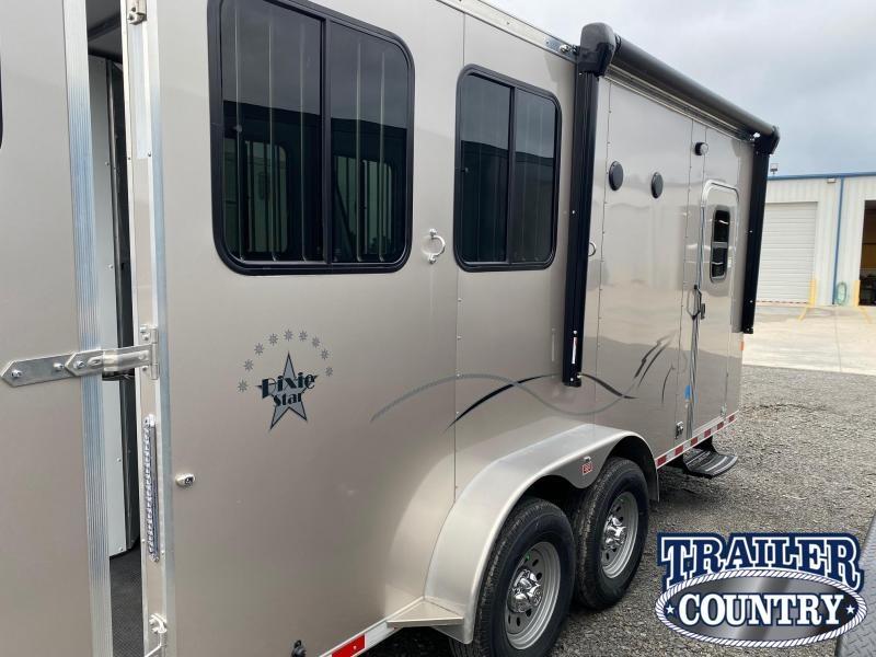 2021 Dixie Star 2 Horse Bumper Pull Living Quarters Horse Trailer