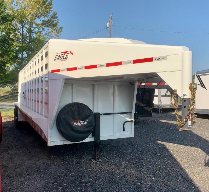 2022 Maxxim Industries Eagle 24' Livestock Trailer - IN STOCK!!