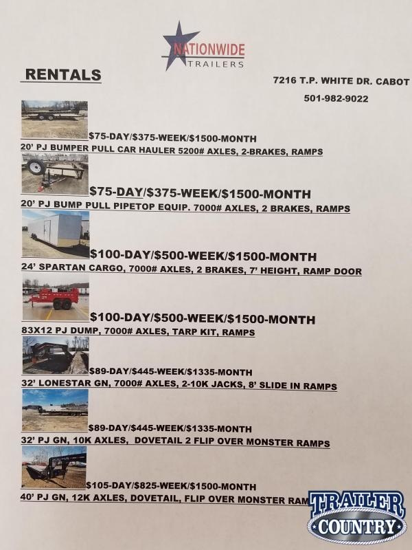 2020 PJ Trailers RENTALS Other Trailer