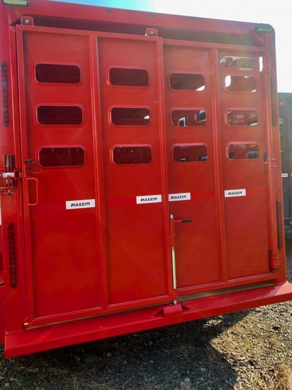 2022 Maxxim Industries Eagle 24' Livestock Trailer - IN STOCK!