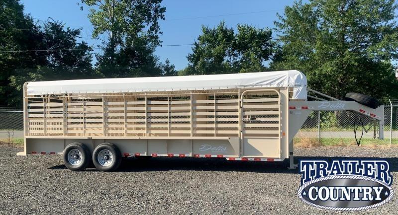 2022 Delta Manufacturing 500 24' Livestock Trailer