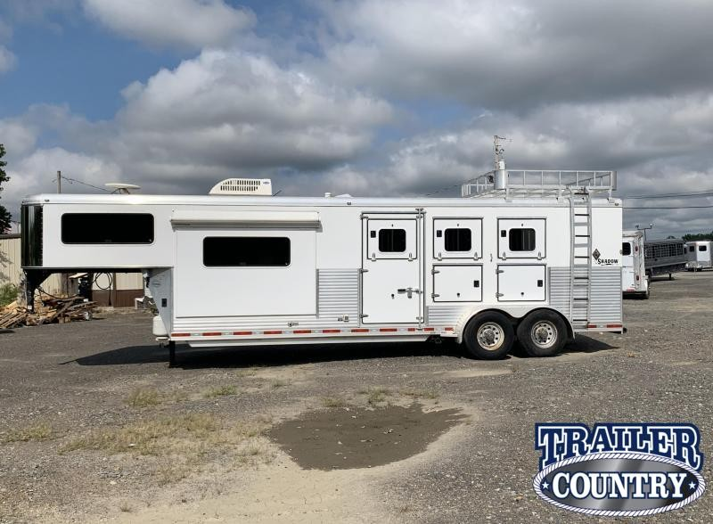 2009 Shadow Trailers 3 Horse Gooseneck Horse Trailer with Living Quarters